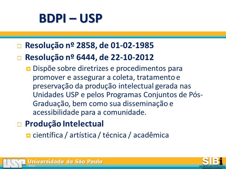 BDPI – USP Resolução nº 2858, de 01-02-1985