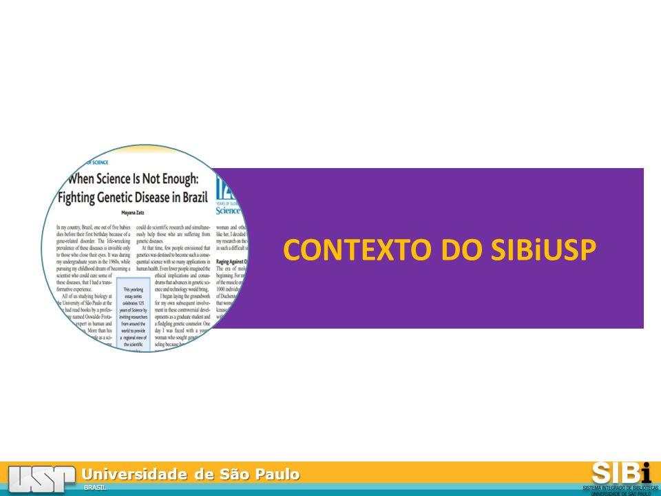 CONTEXTO DO SIBiUSP