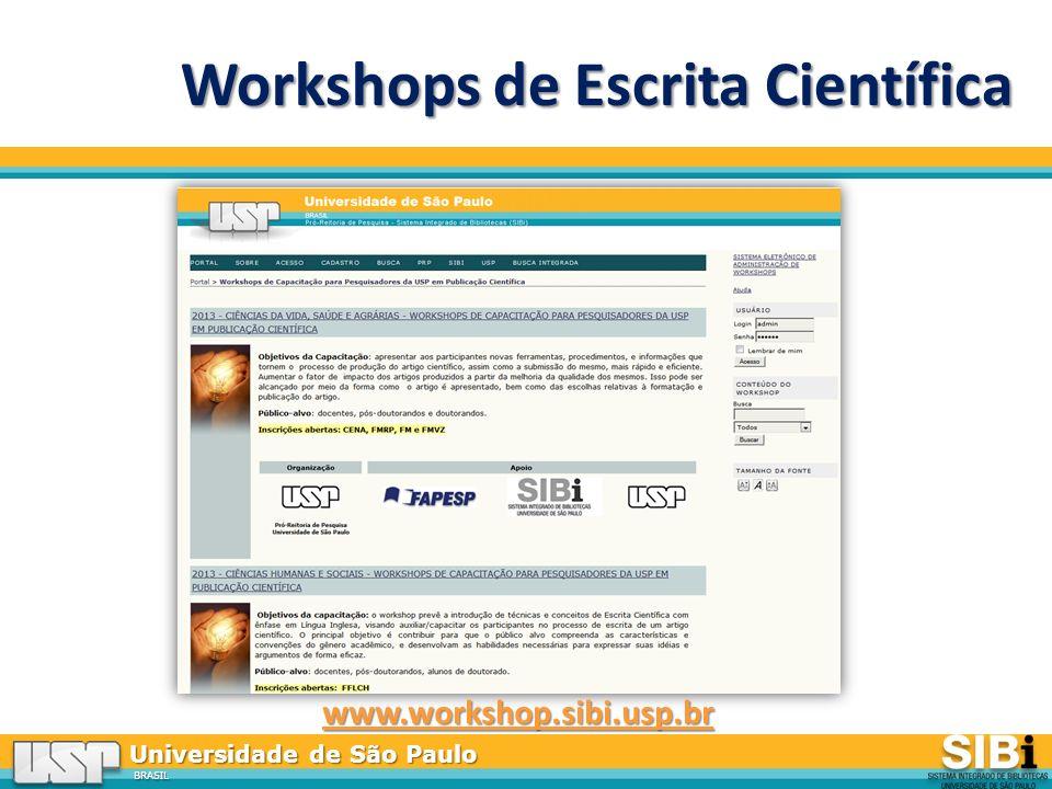 Workshops de Escrita Científica