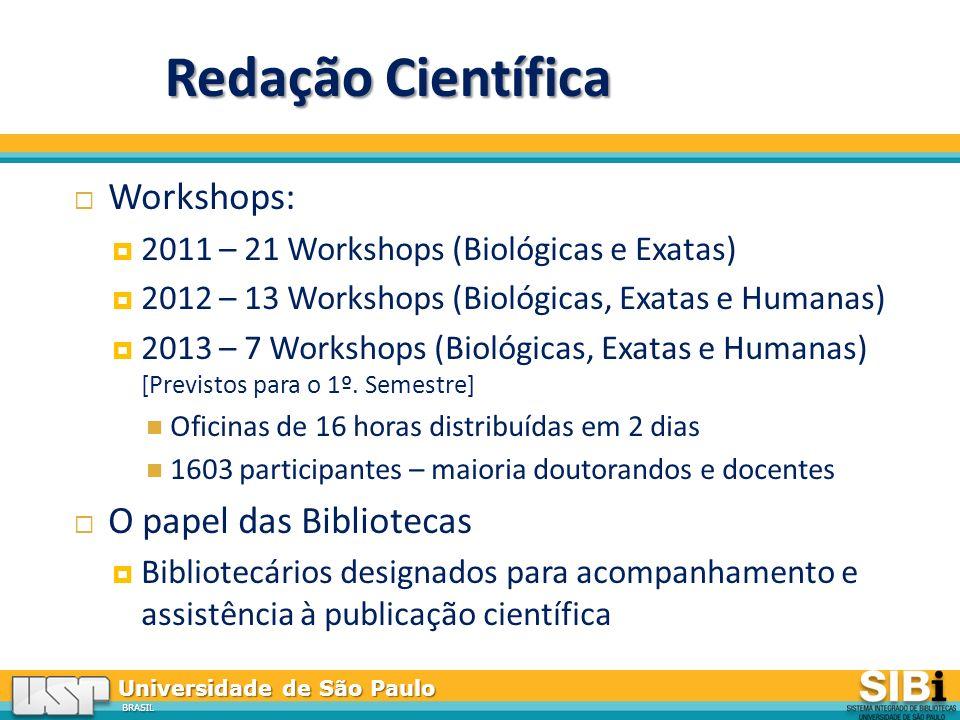 Redação Científica Workshops: O papel das Bibliotecas
