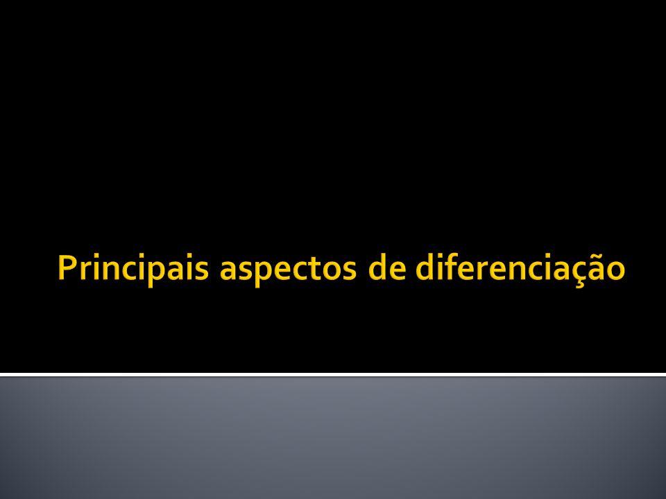 Principais aspectos de diferenciação