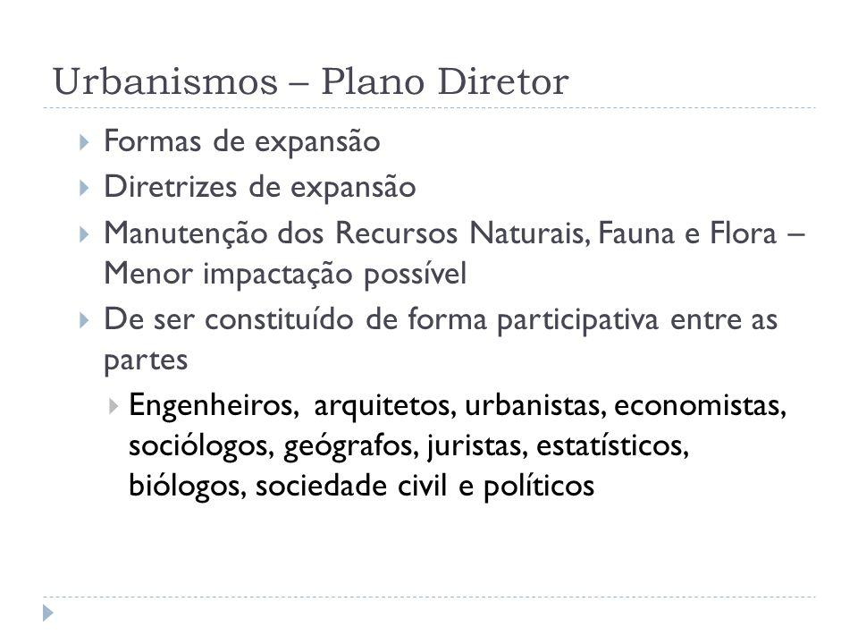 Urbanismos – Plano Diretor