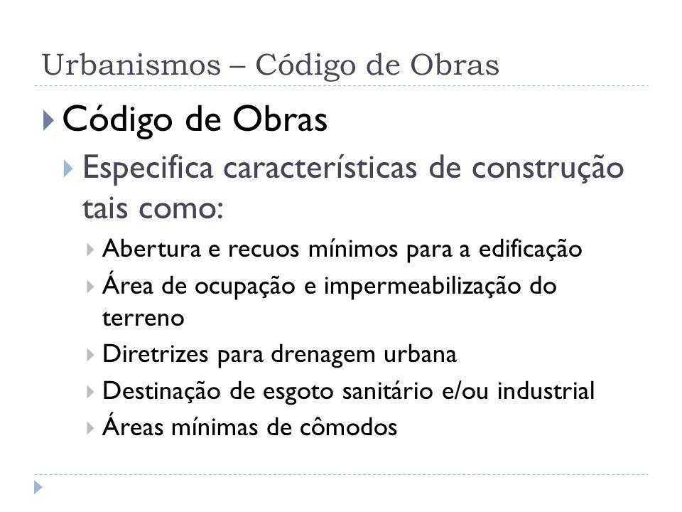 Urbanismos – Código de Obras
