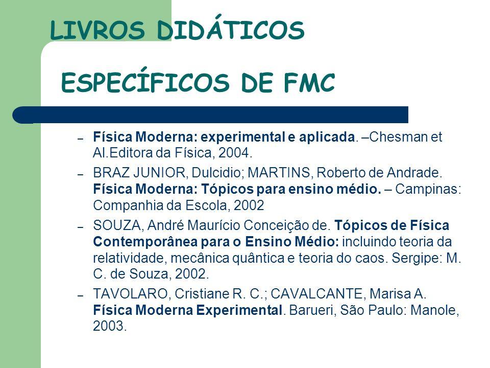 LIVROS DIDÁTICOS ESPECÍFICOS DE FMC