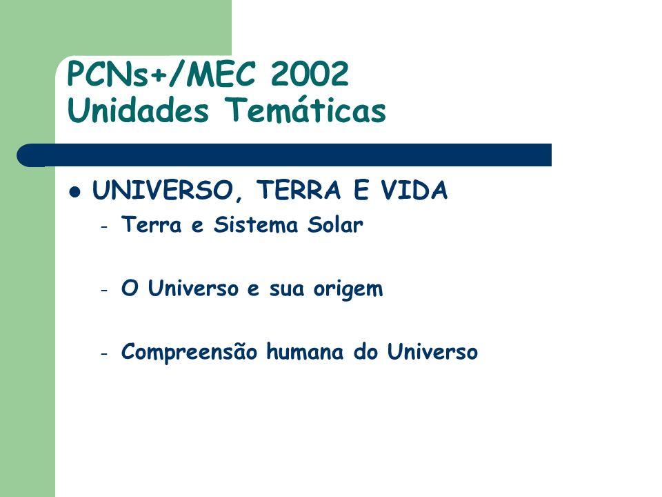 PCNs+/MEC 2002 Unidades Temáticas