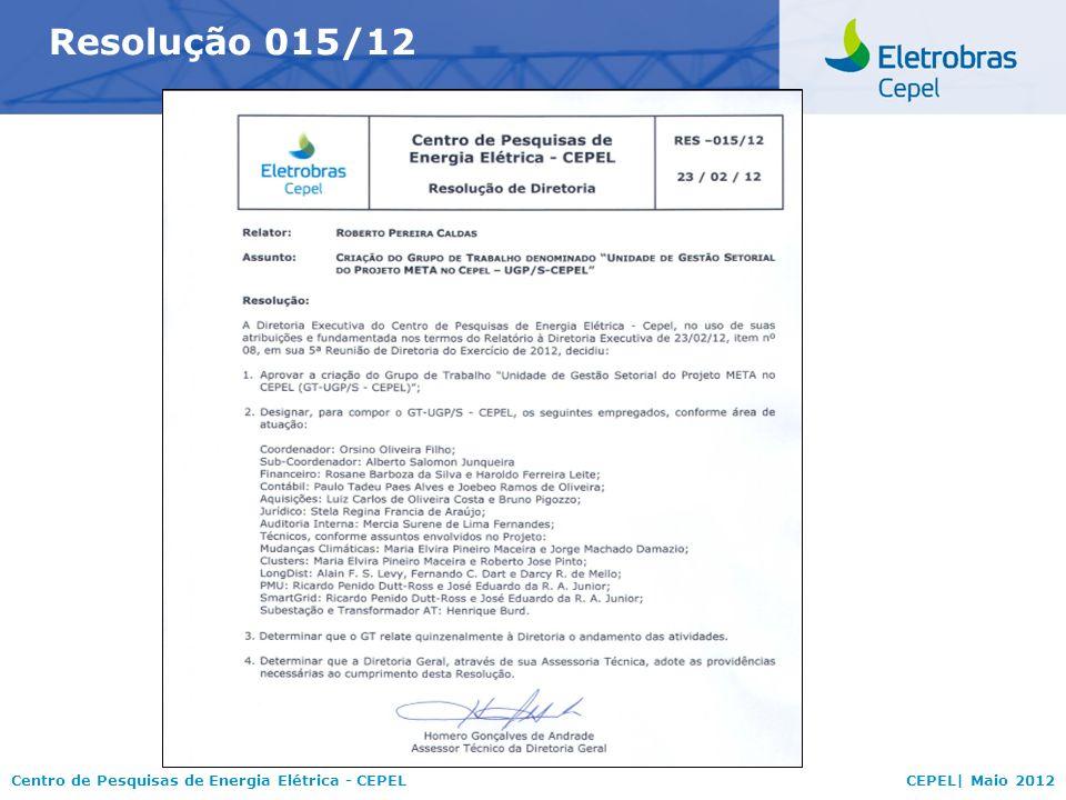 Resolução 015/12