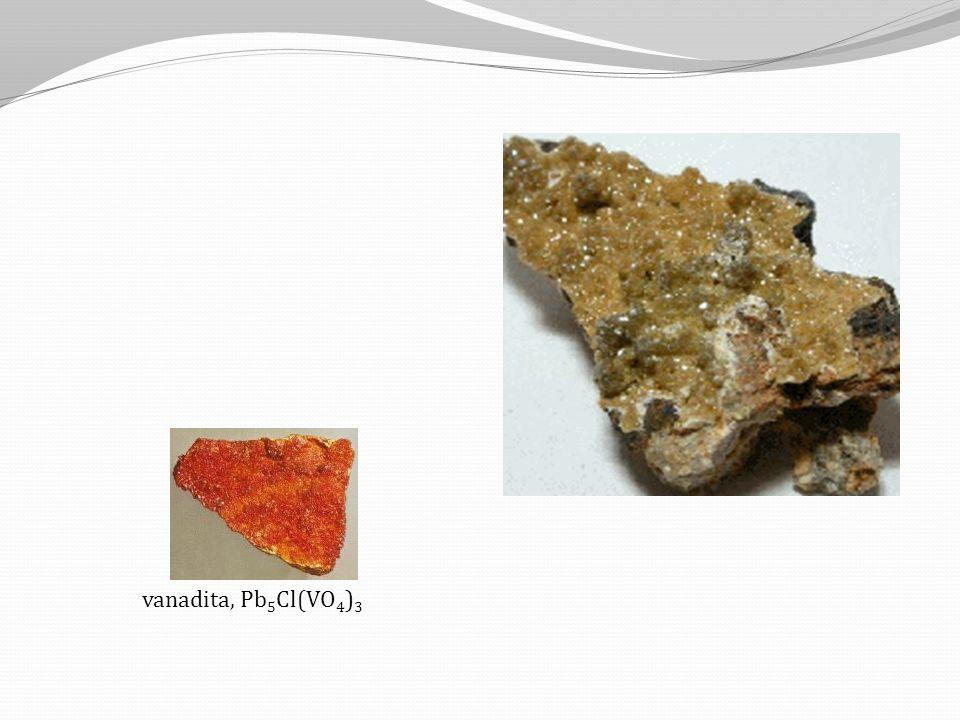 vanadita, Pb5Cl(VO4)3