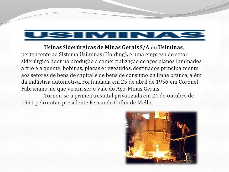 Usinas Siderúrgicas de Minas Gerais S/A ou Usiminas, pertencente ao Sistema Usiminas (Holding), é uma empresa do setor siderúrgico líder na produção e comercialização de aços planos laminados a frio e a quente, bobinas, placas e revestidos, destinados principalmente aos setores de bens de capital e de bens de consumo da linha branca, além da indústria automotiva. Foi fundada em 25 de abril de 1956 em Coronel Fabriciano, no que viria a ser o Vale do Aço, Minas Gerais.