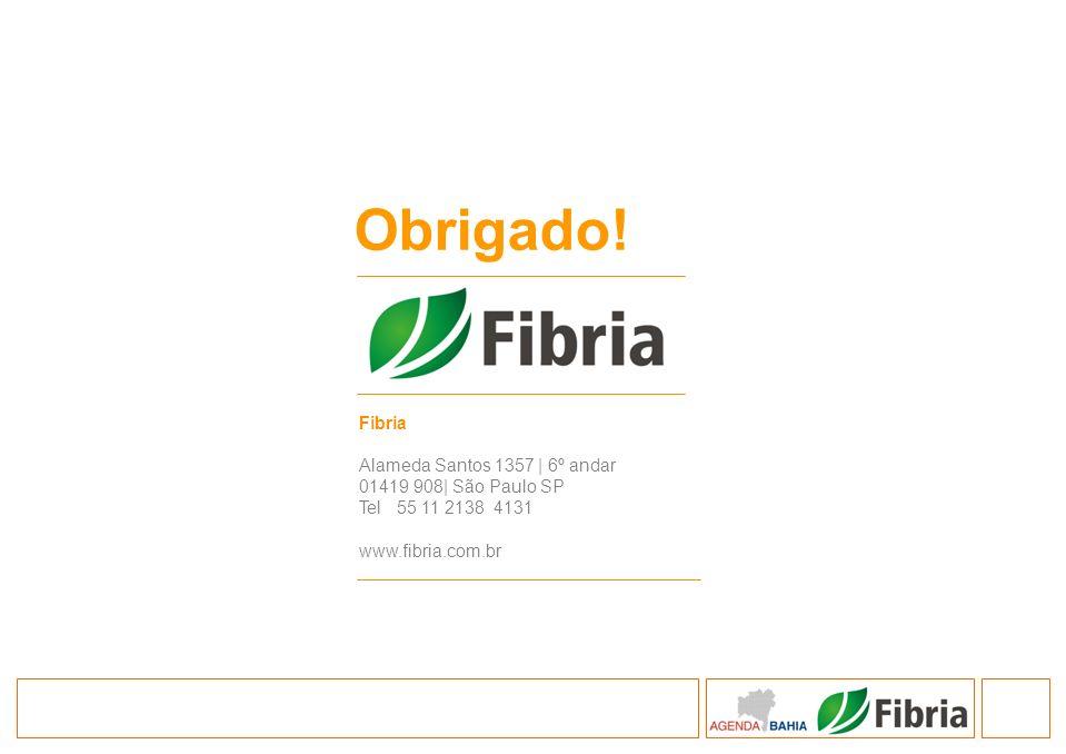 Obrigado! 33 Fibria Alameda Santos 1357 | 6º andar