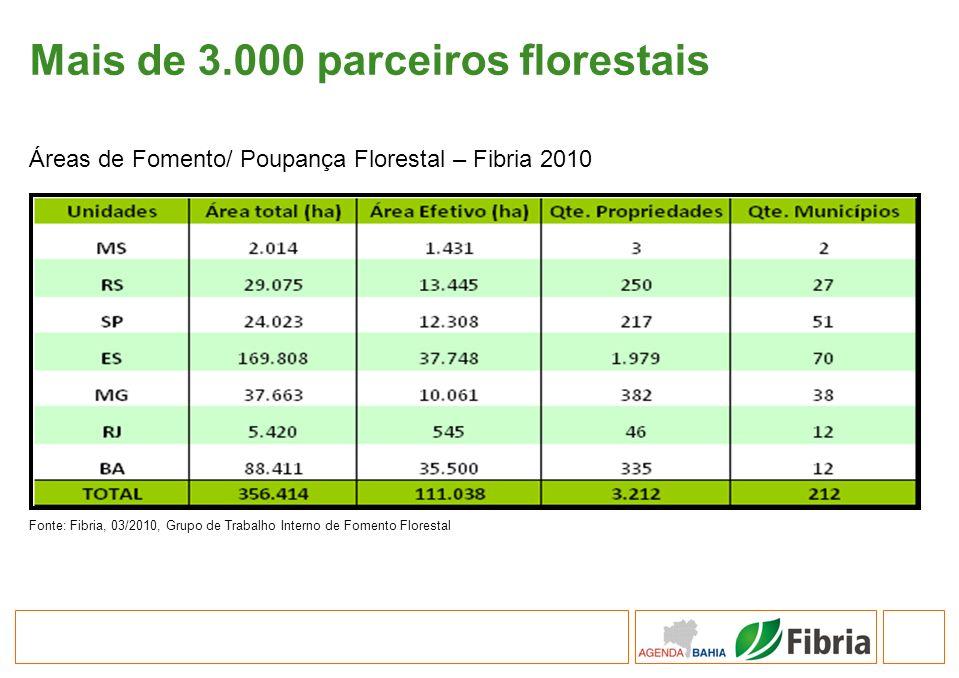 Mais de 3.000 parceiros florestais