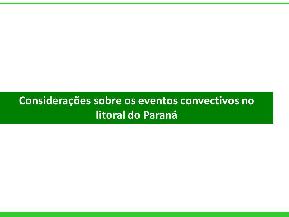 Considerações sobre os eventos convectivos no litoral do Paraná