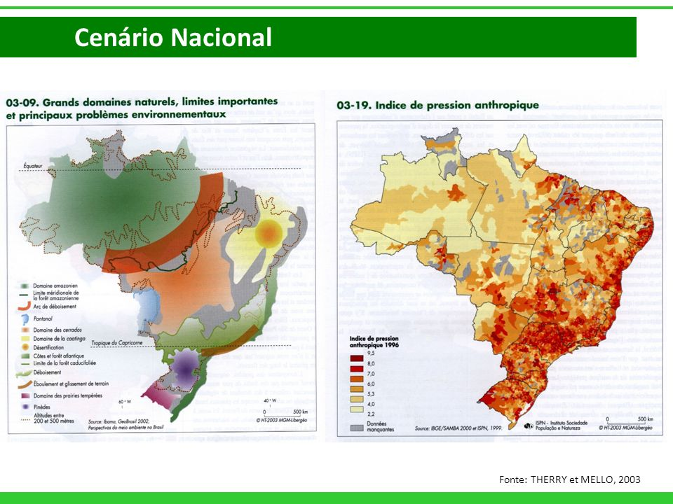 Cenário Nacional Fonte: THERRY et MELLO, 2003