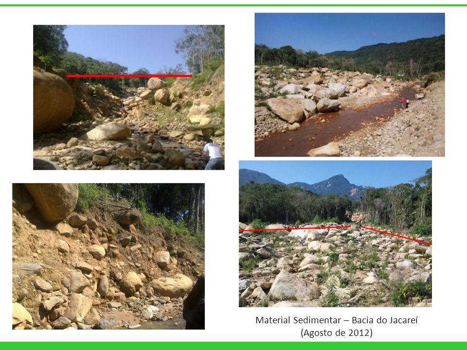 Material Sedimentar – Bacia do Jacareí (Agosto de 2012)
