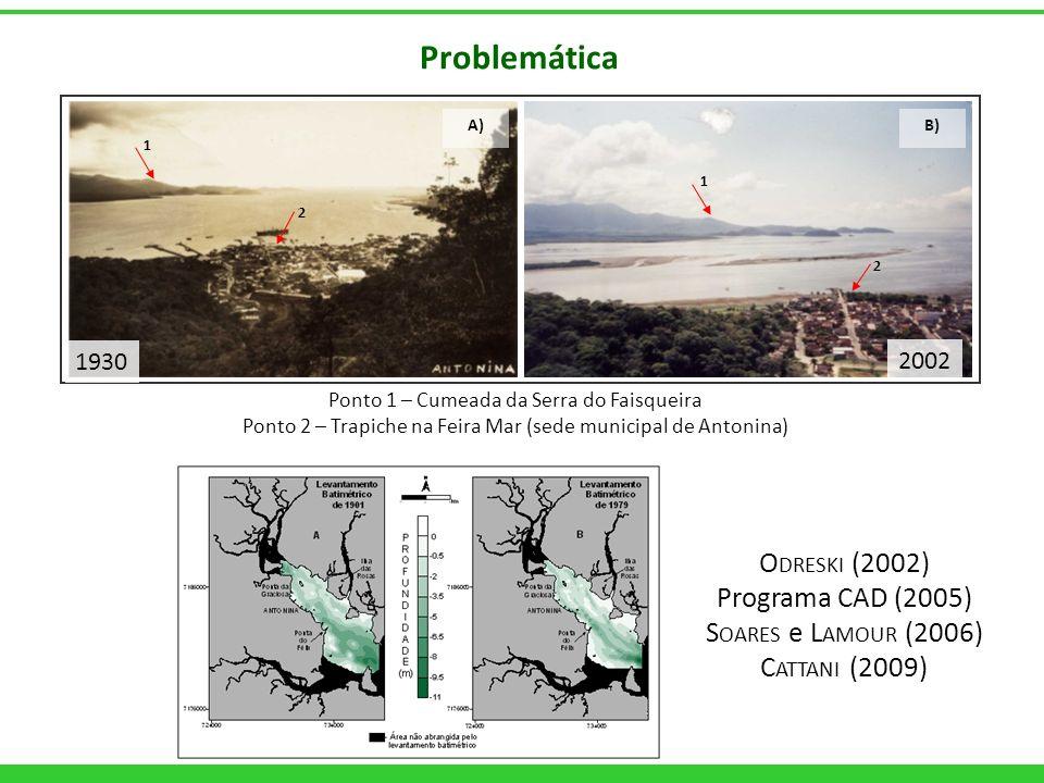 Problemática Odreski (2002) Programa CAD (2005) Soares e Lamour (2006)