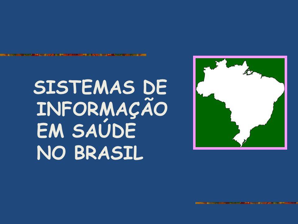 SISTEMAS DE INFORMAÇÃO EM SAÚDE NO BRASIL