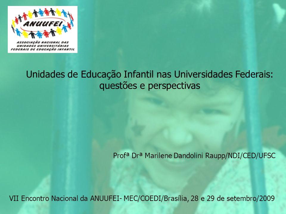 Unidades de Educação Infantil nas Universidades Federais: questões e perspectivas