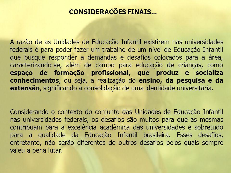 CONSIDERAÇÕES FINAIS...