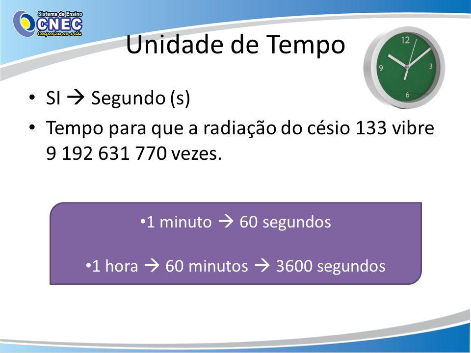 1 hora  60 minutos  3600 segundos