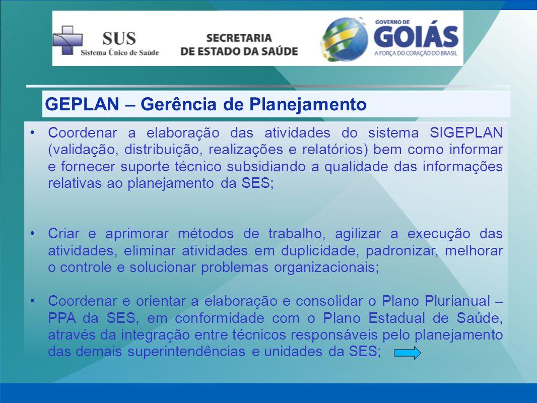 GEPLAN – Gerência de Planejamento