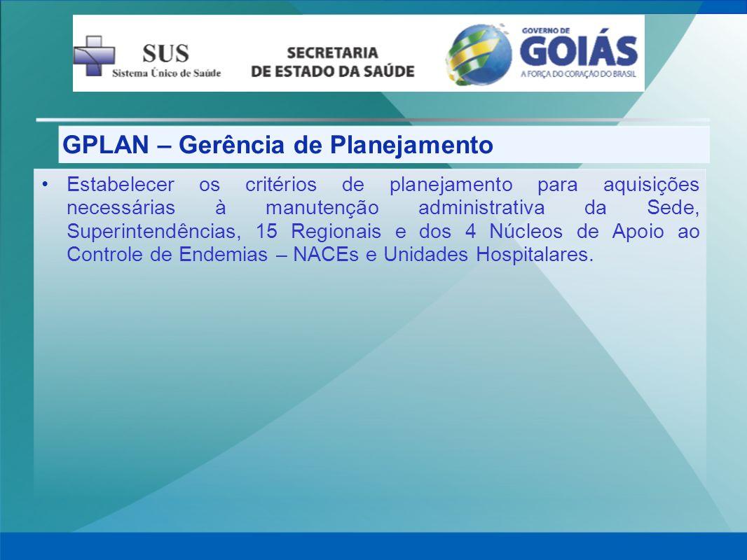 GPLAN – Gerência de Planejamento
