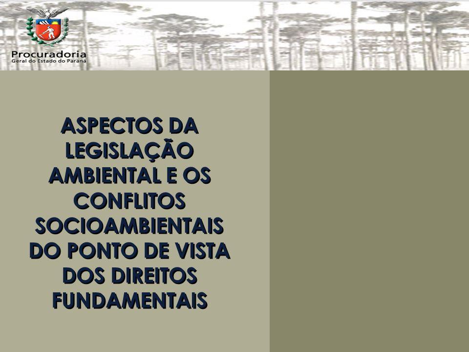 ASPECTOS DA LEGISLAÇÃO AMBIENTAL E OS CONFLITOS SOCIOAMBIENTAIS DO PONTO DE VISTA DOS DIREITOS FUNDAMENTAIS