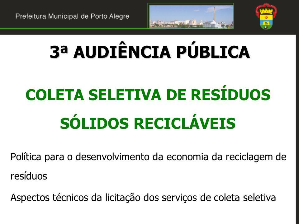 COLETA SELETIVA DE RESÍDUOS SÓLIDOS RECICLÁVEIS