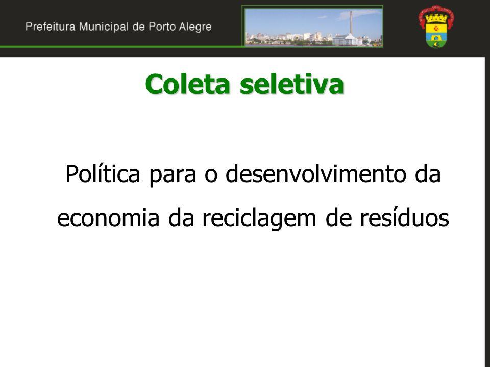 Política para o desenvolvimento da economia da reciclagem de resíduos