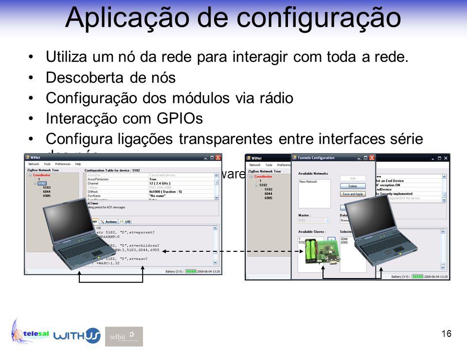 Aplicação de configuração