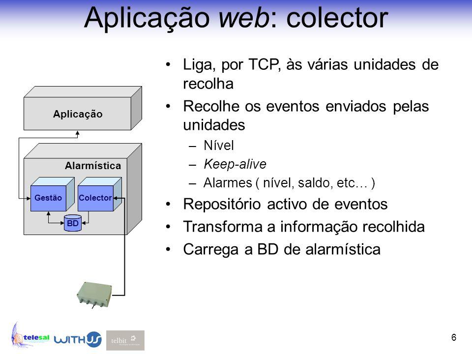 Aplicação web: colector