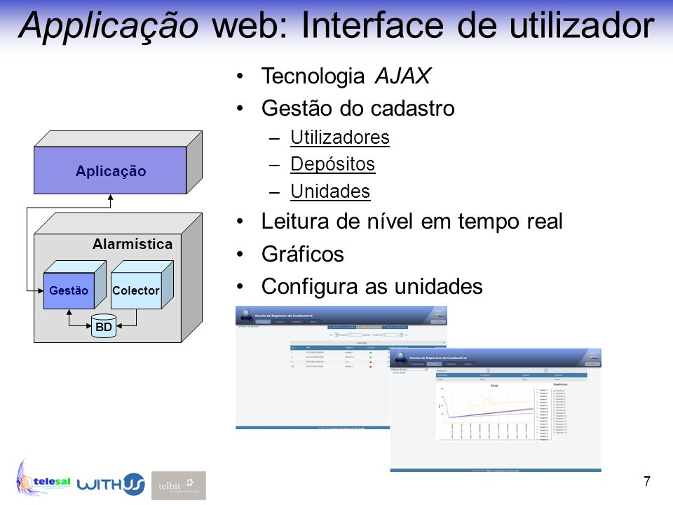 Applicação web: Interface de utilizador