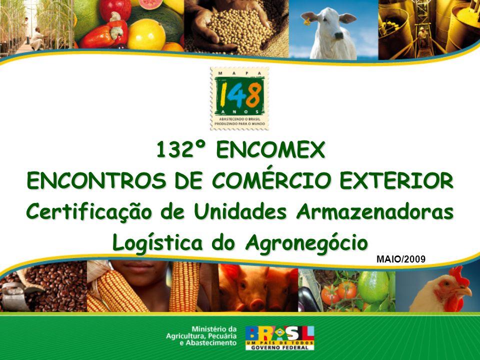 ENCONTROS DE COMÉRCIO EXTERIOR Certificação de Unidades Armazenadoras