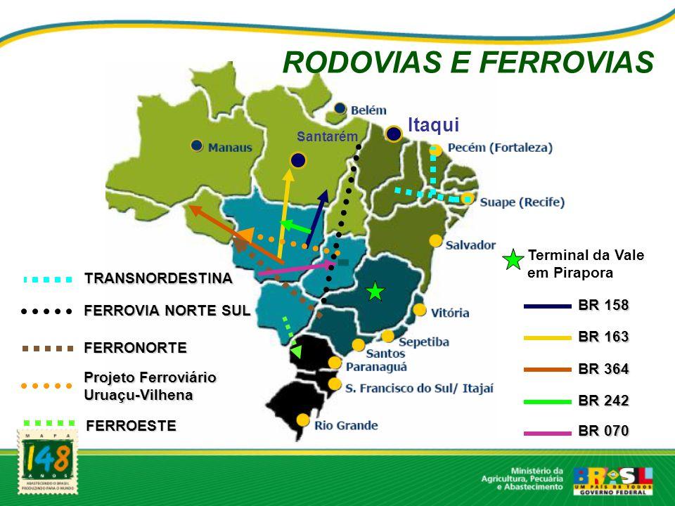 RODOVIAS E FERROVIAS Itaqui Terminal da Vale em Pirapora
