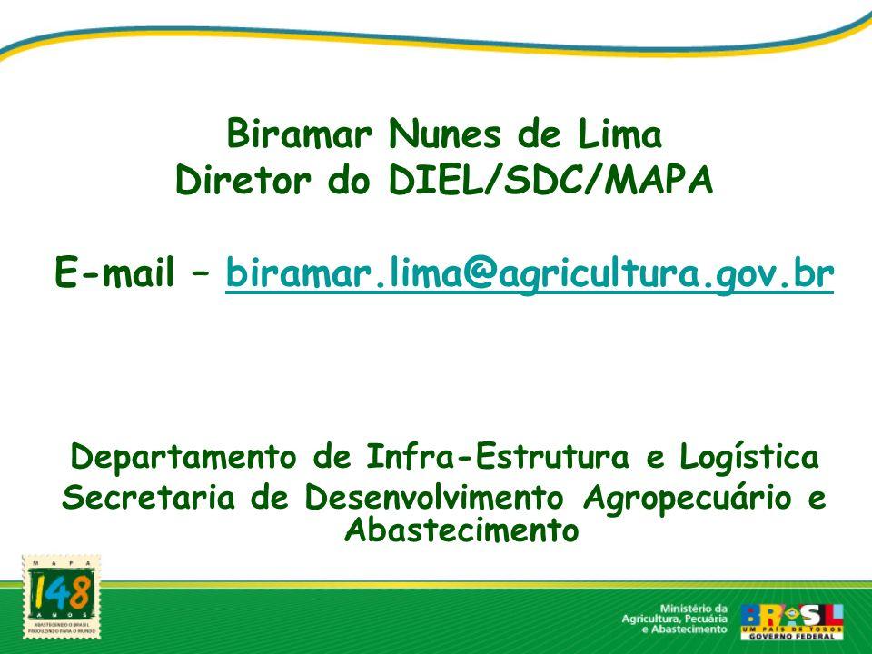 Diretor do DIEL/SDC/MAPA E-mail – biramar.lima@agricultura.gov.br