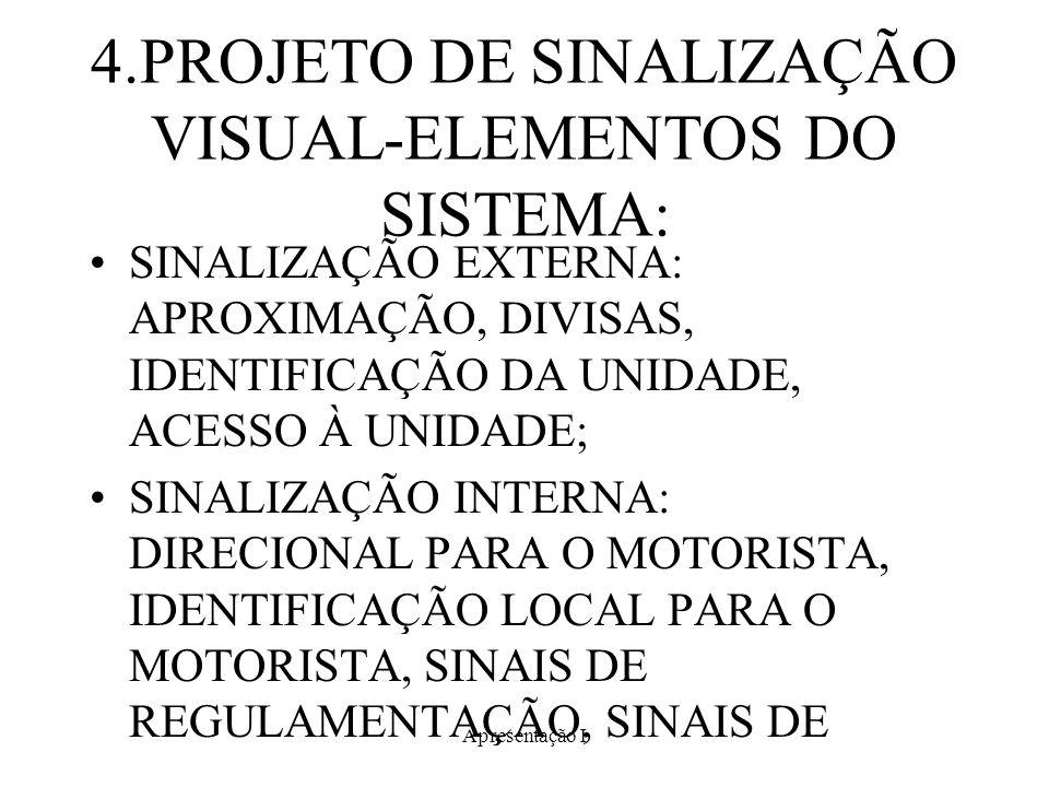 4.PROJETO DE SINALIZAÇÃO VISUAL-ELEMENTOS DO SISTEMA: