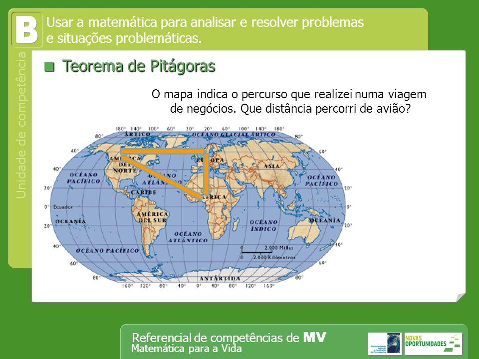 B  Teorema de Pitágoras
