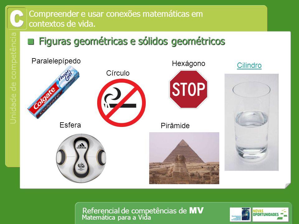 C  Figuras geométricas e sólidos geométricos