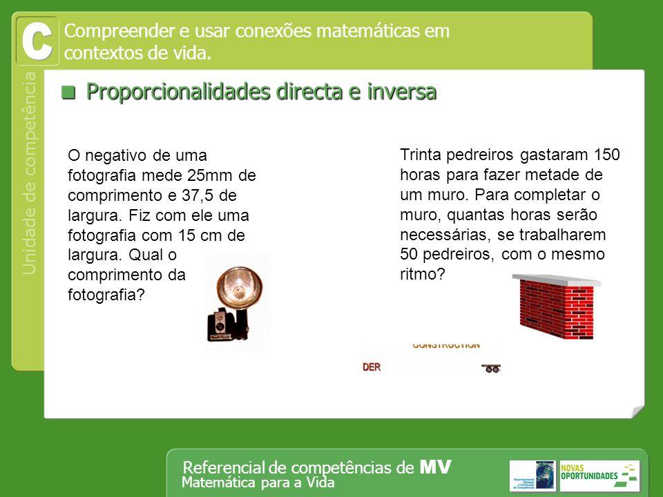 C  Proporcionalidades directa e inversa