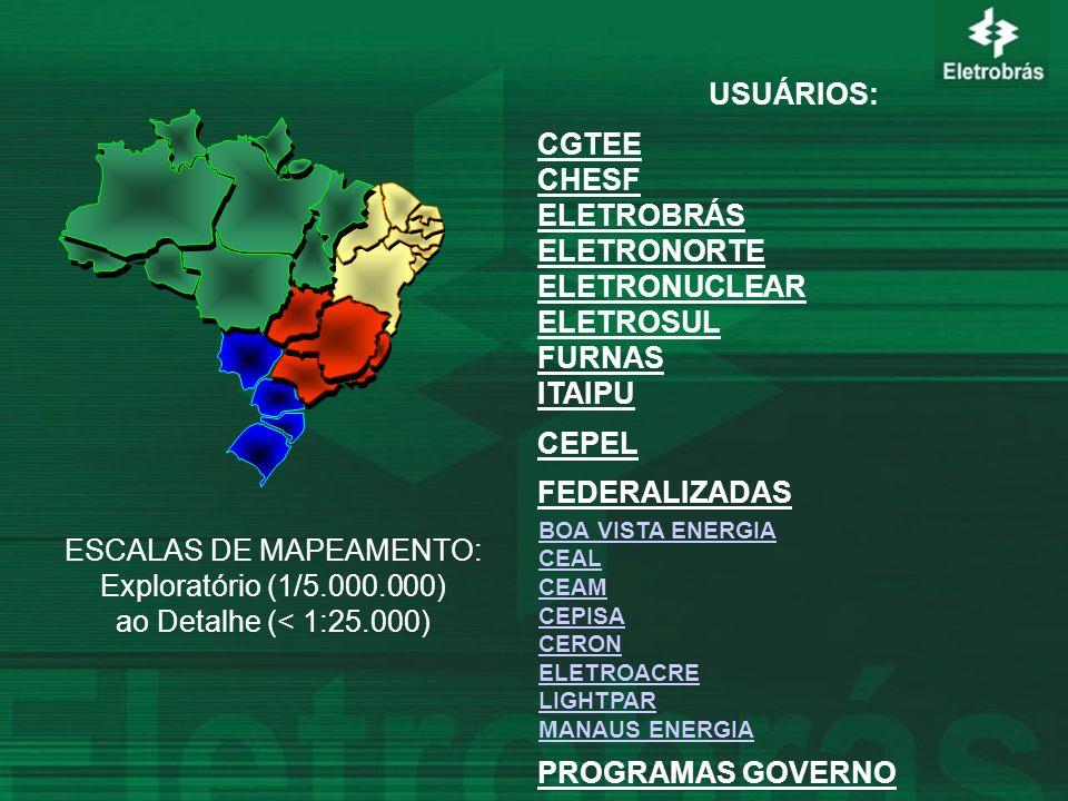 ESCALAS DE MAPEAMENTO: