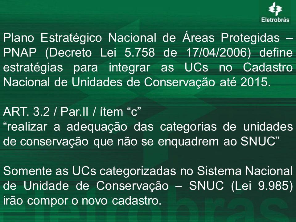 Plano Estratégico Nacional de Áreas Protegidas – PNAP (Decreto Lei 5