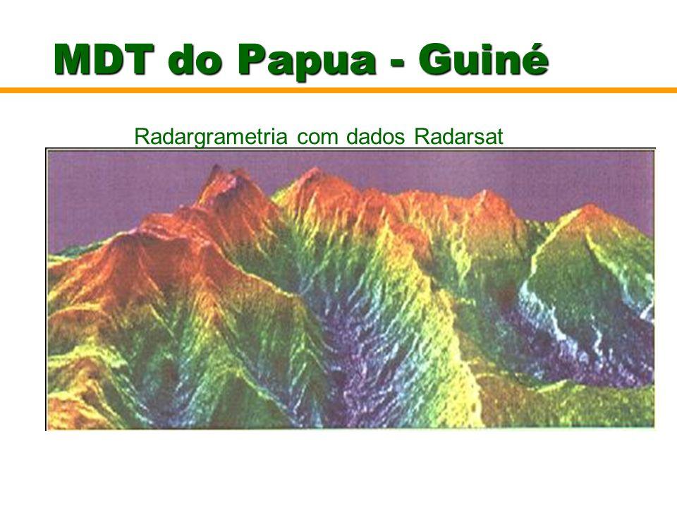 MDT do Papua - Guiné Radargrametria com dados Radarsat