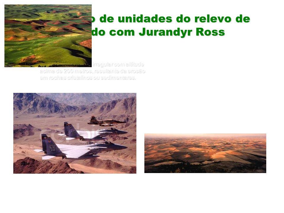 Definição de unidades do relevo de acordo com Jurandyr Ross