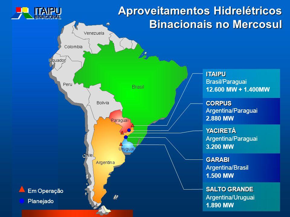 Aproveitamentos Hidrelétricos Binacionais no Mercosul