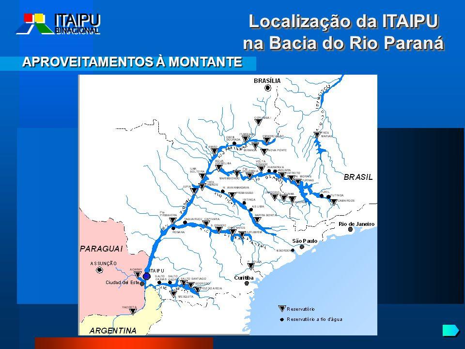 Localização da ITAIPU na Bacia do Rio Paraná
