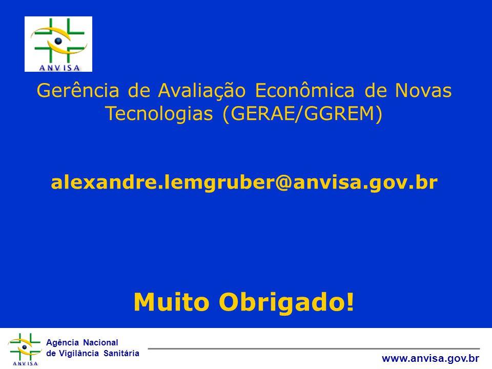 Gerência de Avaliação Econômica de Novas Tecnologias (GERAE/GGREM)