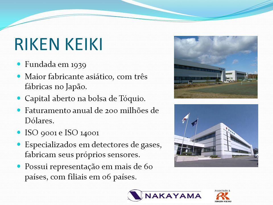 RIKEN KEIKI Fundada em 1939. Maior fabricante asiático, com três fábricas no Japão. Capital aberto na bolsa de Tóquio.