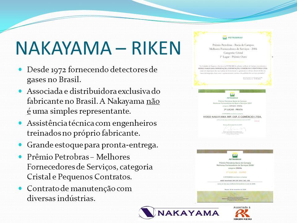 NAKAYAMA – RIKEN Desde 1972 fornecendo detectores de gases no Brasil.