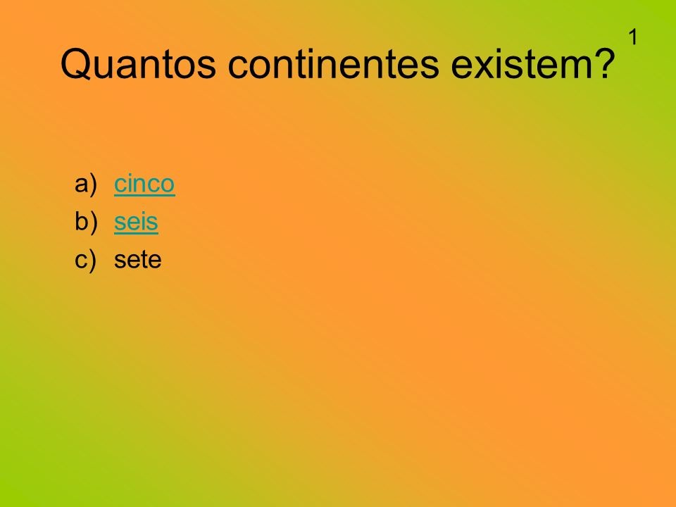 Quantos continentes existem