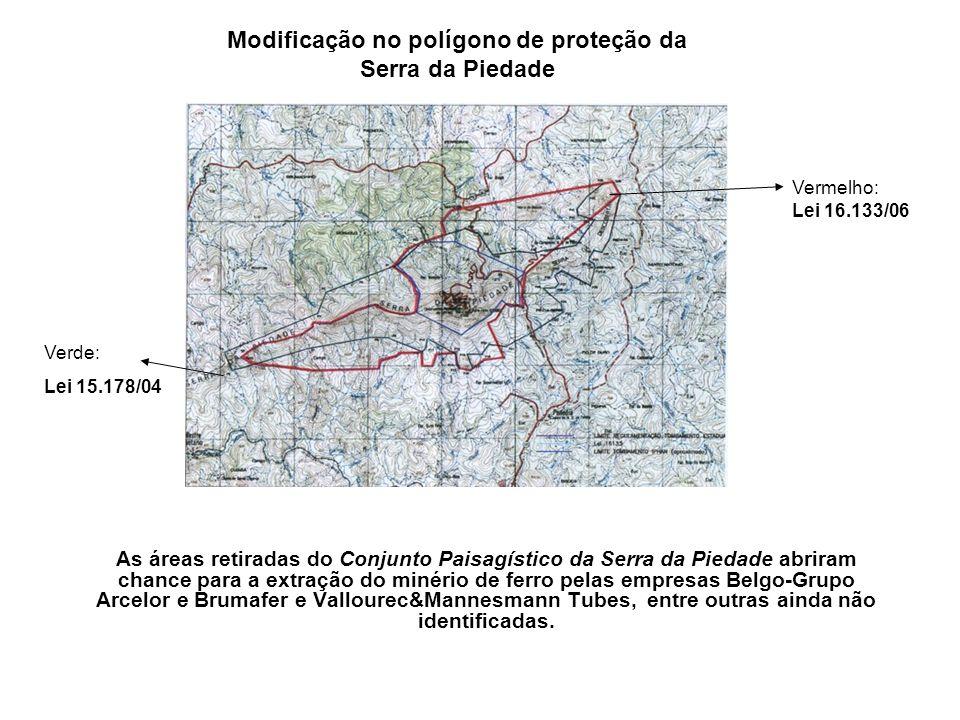 Modificação no polígono de proteção da Serra da Piedade