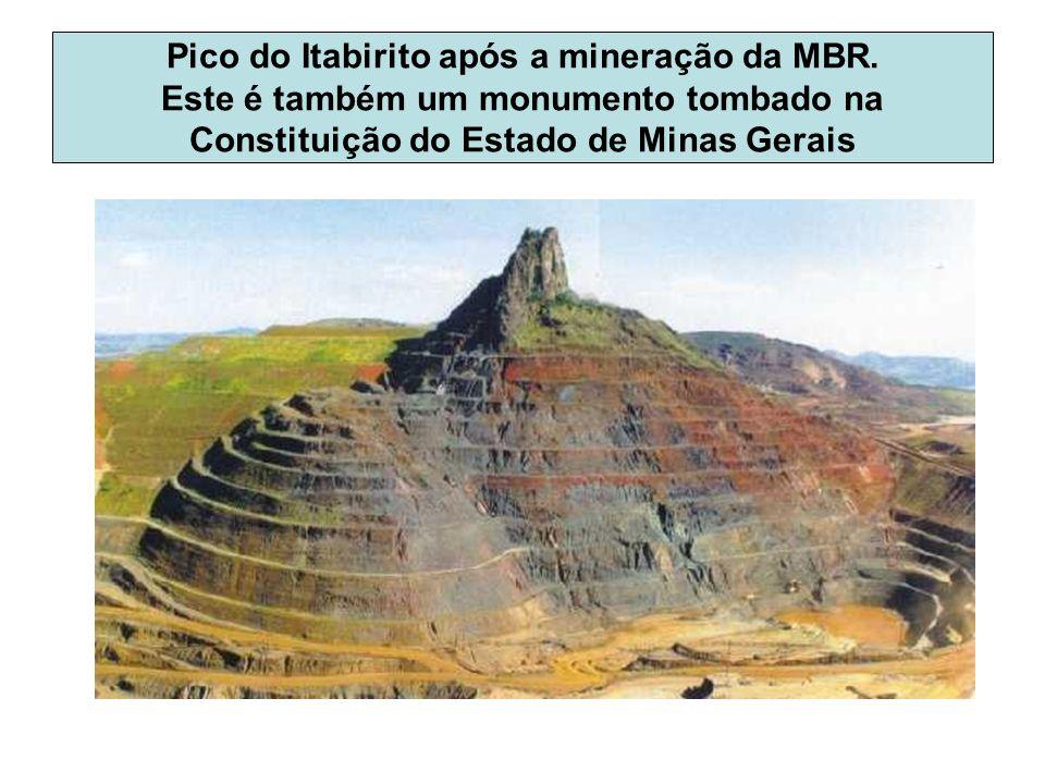 Pico do Itabirito após a mineração da MBR