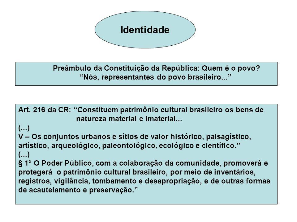 Identidade Preâmbulo da Constituição da República: Quem é o povo